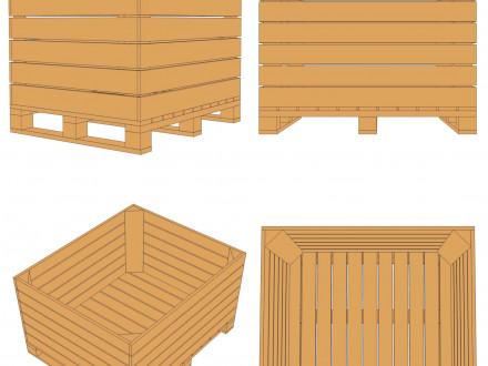 яблочный контейнер Ф1-98-Б-1000