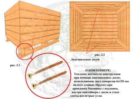 Яблочный контейнер, контейнер деревянный для яблок, сосновый контейнер